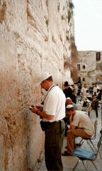 Roger praying at the western wall